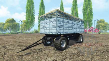 Remorque pour le transport de bétail v3.0 pour Farming Simulator 2015