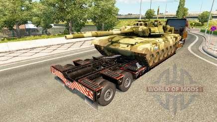 Semi transportant du matériel militaire v1.7 pour Euro Truck Simulator 2