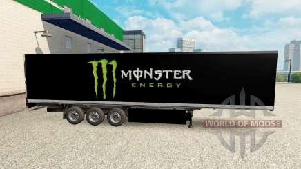 La peau Monster Energy pour le semi pour Euro Truck Simulator 2