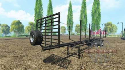 Semi-remorque en bois pour Farming Simulator 2015