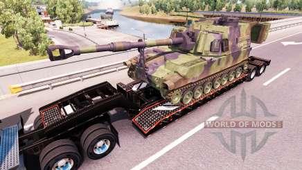 Semi transportant du matériel militaire v1.0.1 pour American Truck Simulator