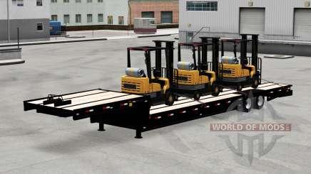 Faible image de chalut avec une charge de chariots élévateurs pour American Truck Simulator