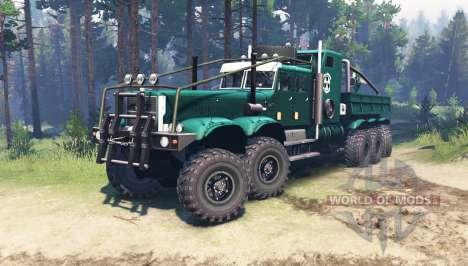 KrAZ 255 étendu pour Spin Tires