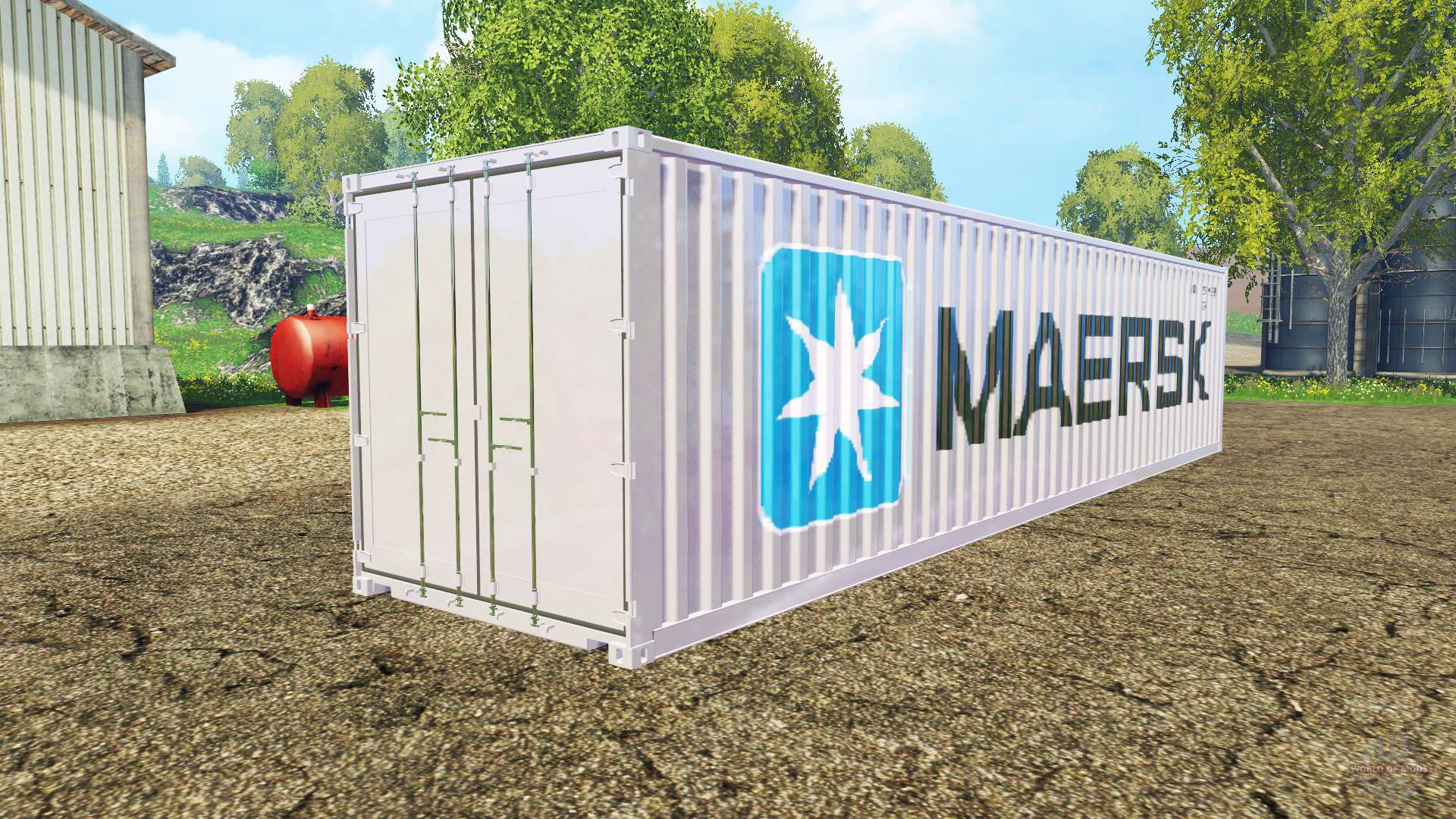 Container 40ft maersk pour farming simulator 2015 for Cout container