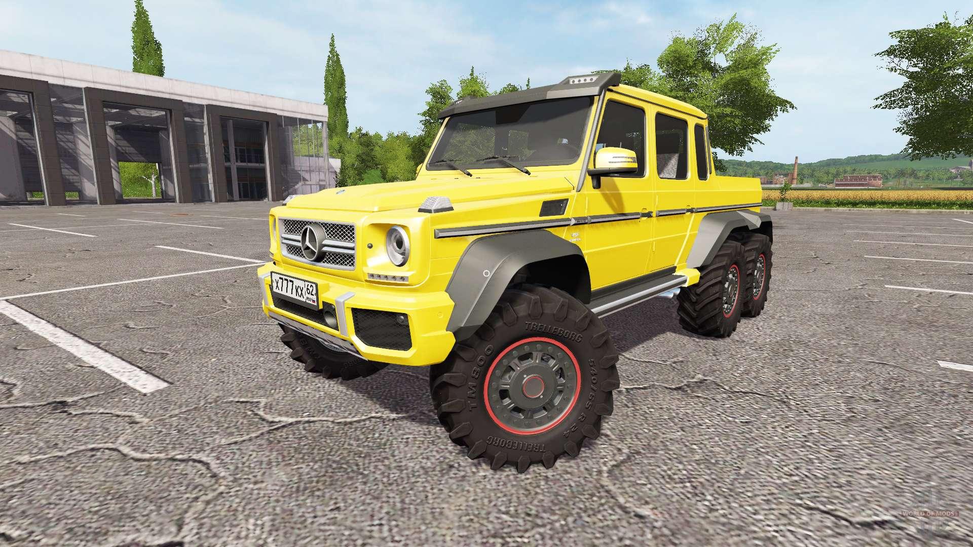 Mercedes benz g65 amg 6x6 pour farming simulator 2017 for Mercedes benz route 17
