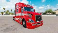 Peau Rouge Fantaisie sur le camion Volvo VNL 780