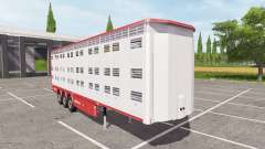 Michieletto livestock trailer v1.1 pour Farming Simulator 2017