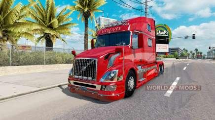 Peau Rouge Fantaisie v2.0 pour camion Volvo VNL 780 pour American Truck Simulator