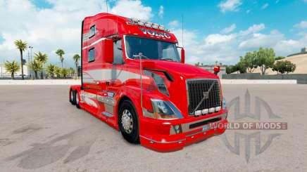 Peau Rouge Fantaisie sur le camion Volvo VNL 780 pour American Truck Simulator