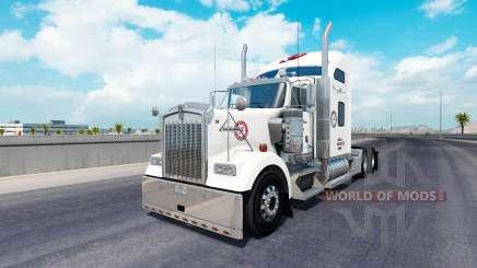 La peau de l'Alabama sur le camion Kenworth W900 pour American Truck Simulator