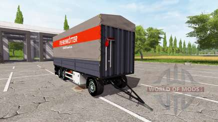 Flatbed trailer pour Farming Simulator 2017