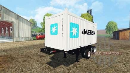 Container semitrailer pour Farming Simulator 2015
