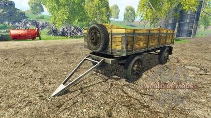 Old flatbed trailer v2.2 pour Farming Simulator 2015