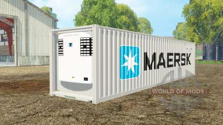 Container reefer 40ft Maersk für Farming Simulator 2015