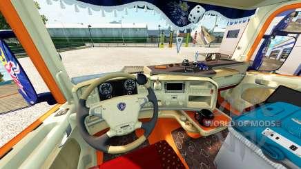 Innenraum für Scania-LKW für Euro Truck Simulator 2