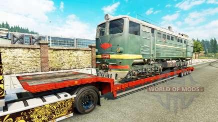 Semi-remorques avec zeleznodoroznyj la ligne v1.7 pour Euro Truck Simulator 2