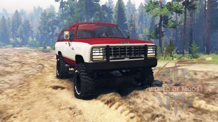 Dodge Ramcharger 1982 pour Spin Tires