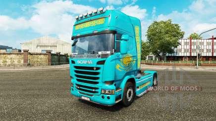 La peau du Kazakhstan pour tracteur Scania pour Euro Truck Simulator 2