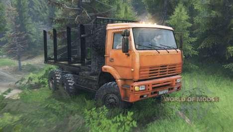 KamAZ 6522 v10.0 pour Spin Tires