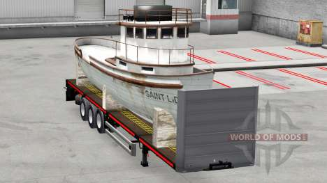 Le semi-plate-forme avec la cargaison pour American Truck Simulator