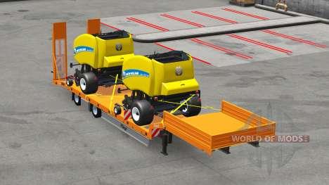 Basse-lit semi-remorques avec des charges v3.0 pour American Truck Simulator