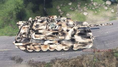 M1 Abrams desert camo pour Spin Tires
