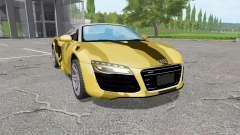 Audi R8 V10 Spyder desert