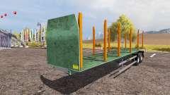 Forestry semitrailer für Farming Simulator 2013