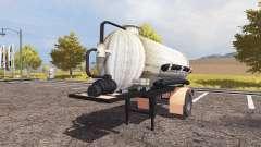 Manure semitrailer
