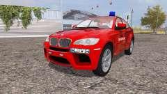 BMW X6 M (Е71) Service d'incendie pour Farming Simulator 2013