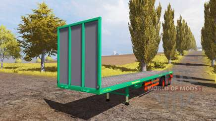 Aguas-Tenias bale semitrailer pour Farming Simulator 2013