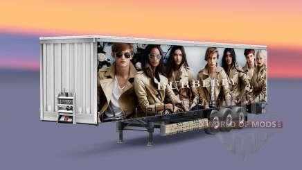 Les peaux de marques de luxe sur la remorque pour Euro Truck Simulator 2