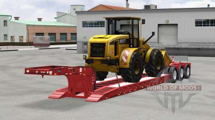 Low sweep Etnyre mit der Ware für American Truck Simulator