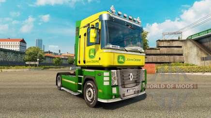 La peau de John Deere tracteur Renault Magnum pour Euro Truck Simulator 2