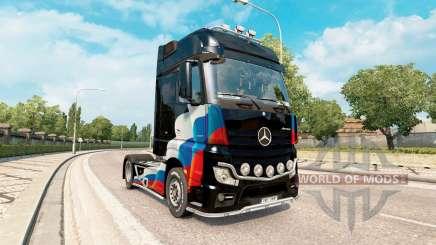 Peaux drapeau russe sur le Mercedes-Benz Actros MP4 pour Euro Truck Simulator 2