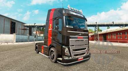 Ferrari peau pour Volvo camion pour Euro Truck Simulator 2