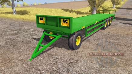 NC Engineering bale trailer pour Farming Simulator 2013
