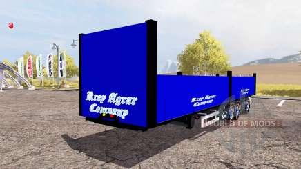 Ekeri bale semitrailer pour Farming Simulator 2013