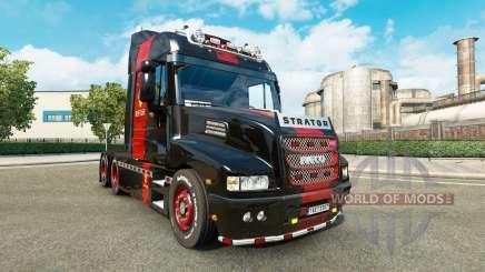 La peau de Ferrari sur le camion Iveco Strator pour Euro Truck Simulator 2