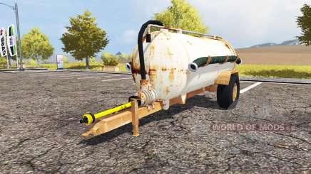 Rusty slurry tanker pour Farming Simulator 2013