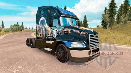 La peau de l'Été Indien sur la Mack Pinnacle tracteur pour American Truck Simulator
