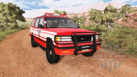 Gavril Roamer DeWitt NY Fire Department Squad pour BeamNG Drive