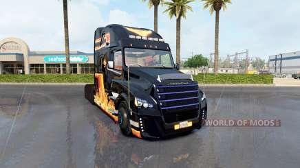 La peau De la Flamme sur le tracteur Freightliner classic pour American Truck Simulator