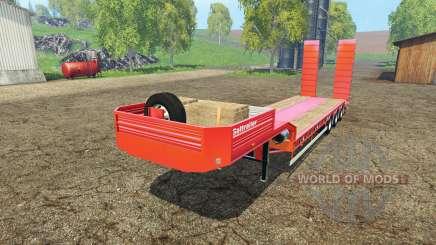 Galtrailer lowboy für Farming Simulator 2015