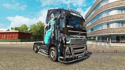 Fille bleue de la peau pour Volvo camion pour Euro Truck Simulator 2