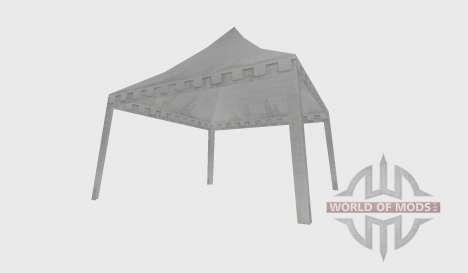White tent open für Farming Simulator 2015
