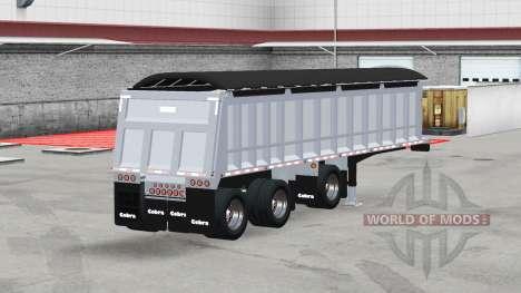 Cobra tri-axle dump trailer pour American Truck Simulator