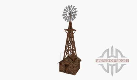 Wind pump tower hut small für Farming Simulator 2015