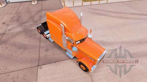 La peau d'Orange pour le camion Peterbilt 389 v1 pour American Truck Simulator