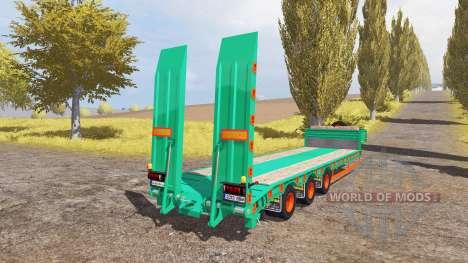 Aguas-Tenias lowboy 3-axis v2.0 pour Farming Simulator 2013